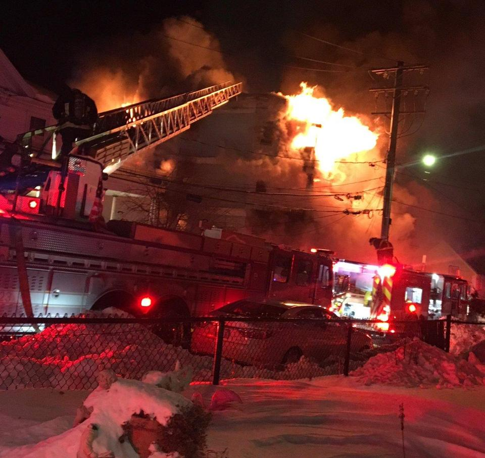 5-alarm fire in Dorchester causes $1.5 million in damage